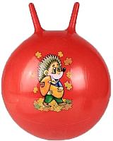 Фитбол с рожками Sabriasport 3333 (красный) -