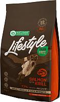 Корм для собак Nature's Protection Lifestyle Grain Free Adult Salmon with Krill / NPLS45680 (1.5кг) -