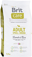 Корм для собак Brit Care Adult Small Breed Lamb & Rice / 132706 (7.5кг) -