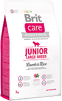 Корм для собак Brit Care Junior Large Breed Lamb & Rice / 132704 (3кг) -