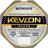 Леска плетеная Konger Kevlon X4 Black 0.06мм 150м / 250151006 -