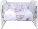 Комплект в кроватку Эдельвейс Акварельки (сатин/слонечка) -