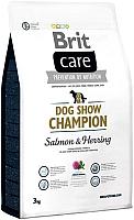 Корм для собак Brit Care Dog Show Champion лосось и сельдь с рисом / 132743 (3кг) -
