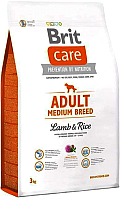 Корм для собак Brit Care Adult Medium Breed Lamb & Rice / 132710 (3кг) -