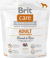 Корм для собак Brit Care Adult Medium Breed Lamb & Rice / 132711 (1кг) -