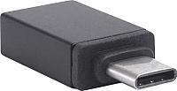 Адаптер Atom USB Type-C 3.1 - USB А 3.0 (черный) -