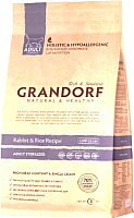 Корм для кошек Grandorf Adult Sterilized Rabbit&Rice (2кг) -