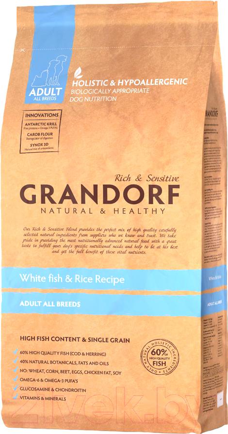 Купить Корм для собак Grandorf, Adult Fish&Rice (1кг), Бельгия