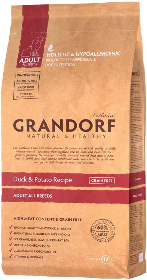 Купить Корм для собак Grandorf, Adult Duck&Potato (12кг), Бельгия
