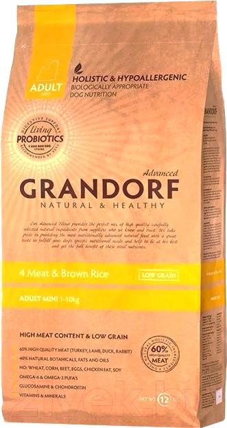 Купить Корм для собак Grandorf, Living Probiotics Adult Mini 4 Meat&Brown Rice (1кг), Бельгия