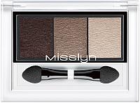 Палетка теней для век Misslyn High Shine Trio EyeShadow 33.80 -