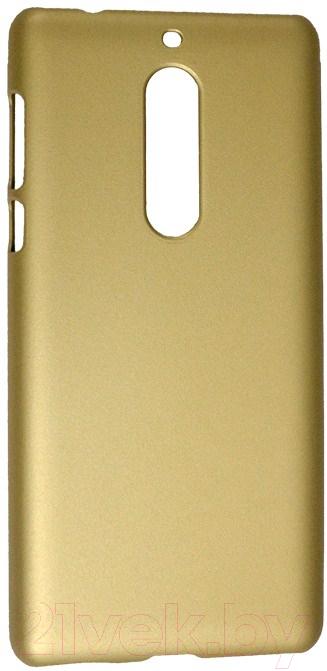 Купить Чехол-накладка Volare Rosso, Soft-touch для Nokia 5 (золото), Китай, поликарбонат
