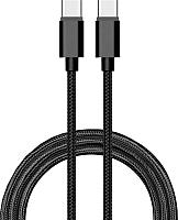 Кабель Atom USB Type-C 3.1 - USB Type-C 3.1 (1.8м, черный) -
