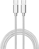 Кабель Atom USB Type-C 3.1 - USB Type-C 3.1 (1м, серебристый) -