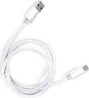 Кабель Atom USB Type-C 3.1 - USB А 3.0 (1м, серебристый) -