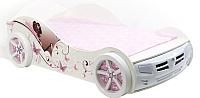 Стилизованная кровать детская ABC-King Фея 90x190 / F-1000-190 (белый) -
