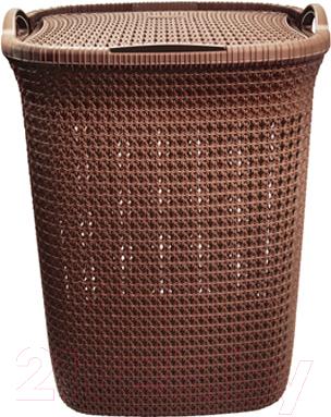 Корзина для белья Эльфпласт Paola EP426 (55л, коричневый) -
