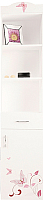 Шкаф-пенал ABC-King Фея правый / F-1013-P (белый) -