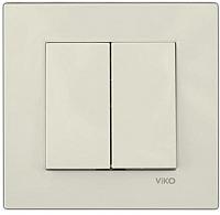 Выключатель Viko Karre  / 90960102 (кремовый) -