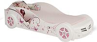 Стилизованная кровать детская ABC-King Фея 90x160 / FA-1000-160SW (белый) -