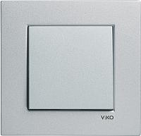 Выключатель Viko Novella 92105001 (серебристый) -