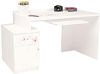 Компьютерный стол ABC-King Фея левый с тумбой / ABC-129-F1-Y (белый) -