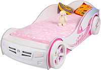 Стилизованная кровать детская ABC-King Princess 90x160 / PR-1000-160 (белый) -