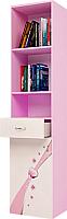 Шкаф-пенал ABC-King Princess левый / PR-1013-1R (розовый) -
