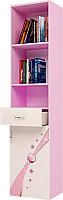Шкаф-пенал ABC-King Princess правый / PR-1013-2R (розовый) -