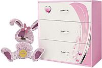 Комод ABC-King Princess / PR-1012-R (розовый) -