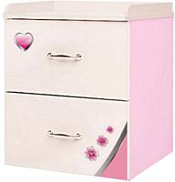 Прикроватная тумба ABC-King Princess / PR-1020-R (розовый) -