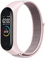 Ремешок для умных часов Evolution XMB34-N01 для Mi Band 3/4 (светло-розовый) -