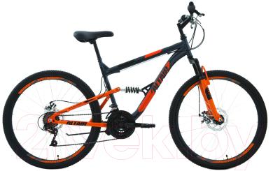 Велосипед Forward Altair MTB FS 2.0 Disc 26 2020 / RBKT0SN6P016 (16, серый/оранжевый)