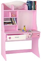 Письменный стол ABC-King Фея / F-1018-R (розовый) -