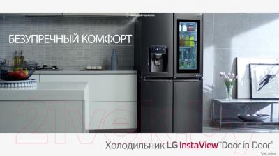 Холодильник с морозильником LG DoorCooling+ GC-Q247CADC