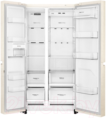 Холодильник с морозильником LG GC-B247SEDC