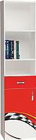 Шкаф-пенал ABC-King La-Man левый / LM-1013-K (красный) -