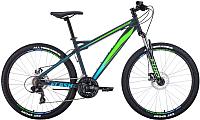 Велосипед Forward Flash 26 2.0 Disc 2020 / RBKW0MN6Q015 (15, серый/светло-зеленый матовый) -