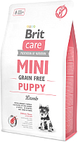 Корм для собак Brit Care Mini GF Puppy Lamb / 520152 (7кг) -