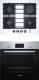 Комплект встраиваемой техники Bosch HBF114BS0R + PPP6A2M90R -
