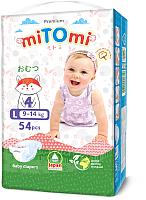 Подгузники MiTomi Premium L от 9 до 14кг (54шт) -