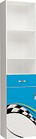 Шкаф-пенал ABC-King La-Man левый / LM-1013-B (голубой) -