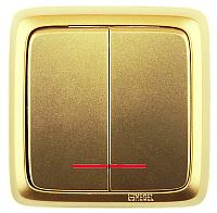 Выключатель Hegel ВА16-154-07 (золото) -