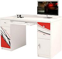 Компьютерный стол ABC-King La-Man с 2 тумбами / ABC-122-L-R (красный) -