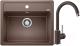 Мойка кухонная Blanco Legra 6 + смеситель Mida / 523337M2 (кофе) -