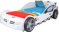 Стилизованная кровать детская ABC-King Formula / FO-1000-160-W (белый) -