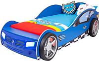 Стилизованная кровать детская ABC-King Formula / FO-1000-160-B (синий) -