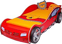 Стилизованная кровать детская ABC-King Formula / FO-1000-190-R (красный) -