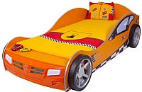Стилизованная кровать детская ABC-King Formula / FO-1000-190-O (оранжевый) -