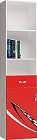Шкаф-пенал ABC-King Formula левый / FO-1013-L-K (красный) -